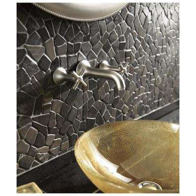12 in. x 12 in. Black Stone Mosaic Pebble Floor and Wall Tile (5.0 sq. ft. / case)
