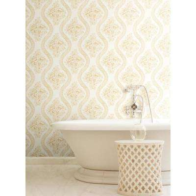 56 sq. ft. Coverlet Floral Removable Wallpaper