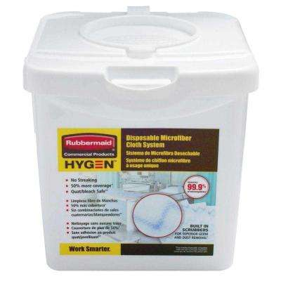 Rubbermaid Commercial Products HYGEN Disposable Microfiber Cloth Charging Tub