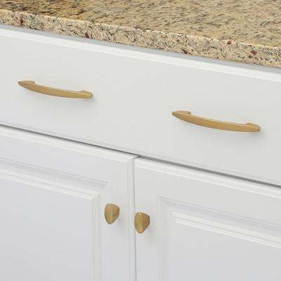 1-7/16 in. x 11/16 in. Velocity Flat Ultra Brass Cabinet Knob