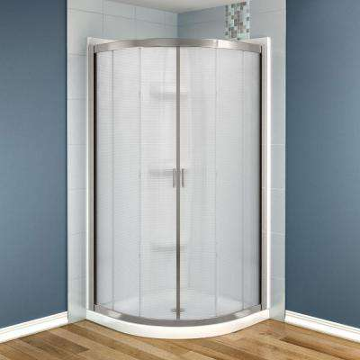 Intuition Neo-Round 32 in. x 32 in. x 73 in. Shower Stall in White