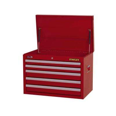 26 in. 5-Drawer Wide Tool Chest, Red