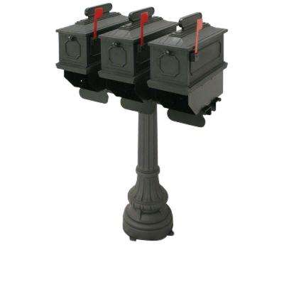 1812 Greensville 50 in. Plastic Mailbox with Post