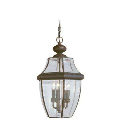 Lancaster 3-Light Outdoor Antique Bronze Hanging Pendant Fixture