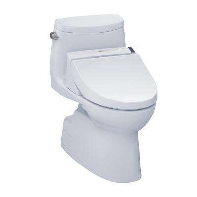 Carlyle II Connect+ 1-Piece 1.28 GPF Elongated Toilet with Washlet C200 Bidet Seat and CeFiOntect in Cotton White