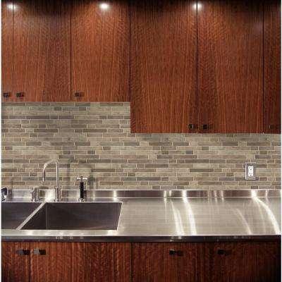 Driftwood Interlocking 11.81 in. x 11.81 in. x 6mm Glass Mesh-Mounted Mosaic Tile