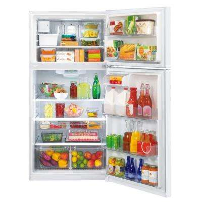 30 in. W 20 cu. ft. Top Freezer Refrigerator in Smooth White