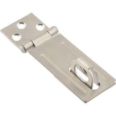 3-1/2 in. Stainless Steel Fixed Staple Safety Hasps (3-Pack)