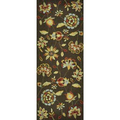 Summerton Lifestyle Collection Brown 2 ft. x 5 ft. Rug Runner