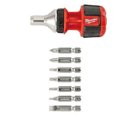 8-in-1 Compact Ratchet Multi-Bit Driver