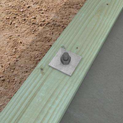 BP 3 in. x 3 in. Hot-Dip Galvanized Bearing Plate with 5/8 in. Bolt Dia.