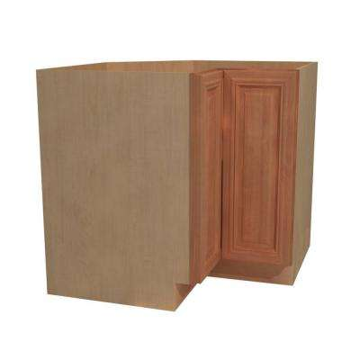 36x34.5x24 in. Dartmouth Assembled Easy Reach Base Cabinet with Super Suzan Right Hand in Cinnamon