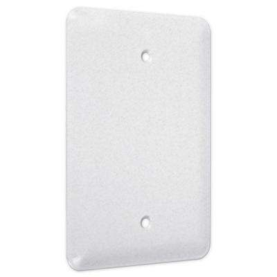 1-Gang Blank Maxi Metal Wall Plate - White Textured (25-Pack)