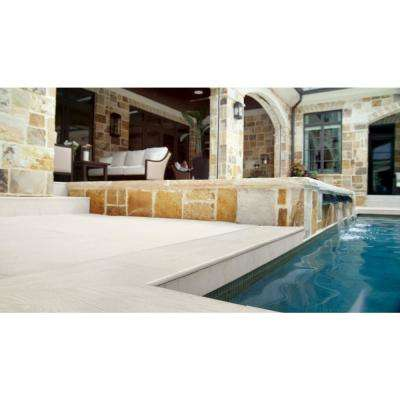 Caldera Blanca 13 in. x 24 in. Glazed Porcelain Pool Coping (26 pieces/56.33 sq. ft./pallet)