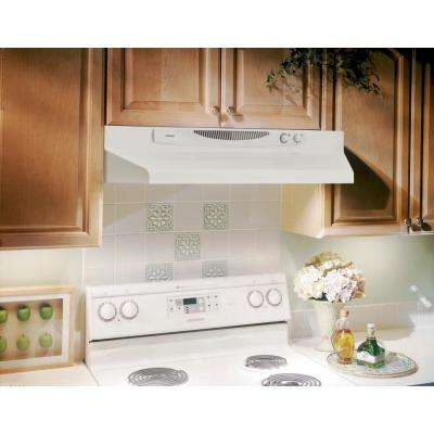 ACS Series 30 in. Convertible Under Cabinet Range Hood with Light in White