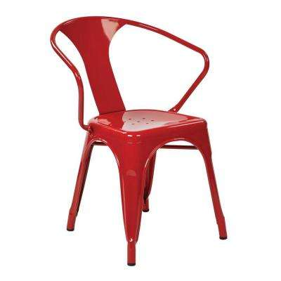 Patterson 4-Piece Metal Chair in Red