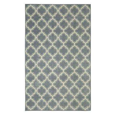 Calabasas Uno Pewter 5 ft. x 8 ft. Area Rug