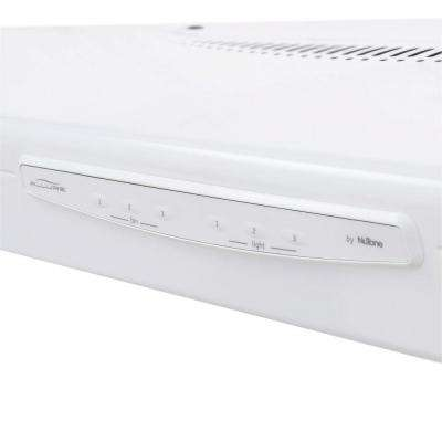 Allure II Series 30 in. Convertible Under Cabinet Range Hood with Light in White