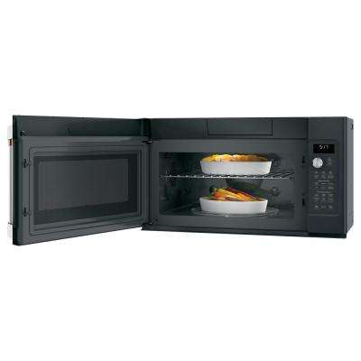 1.7 cu. ft. Over the Range Convection Microwave with Sensor Cooking in Matte Black, Fingerprint Resistant