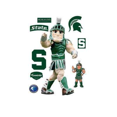 77 in. H x 37 in. W Michigan State Mascot - Sparty Wall Mural