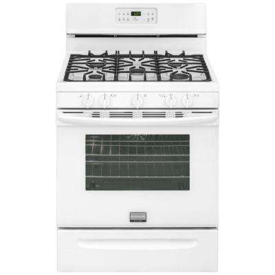 30 in. 5.0 cu. ft. Gas Range with Self-Cleaning QuickBake Convection in White