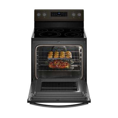 5.3 cu. ft. Electric Range with Self-Cleaning Convection Oven in Fingerprint Resistant Black Stainless