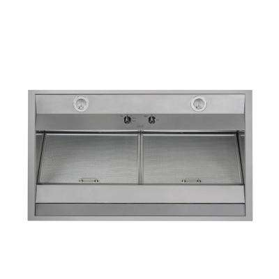 36 in. Wall Mount Range Hood with Light in Stainless Steel