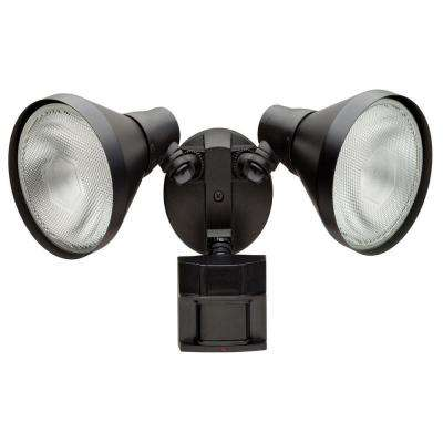 110 Degree Black Motion Activated Outdoor Flood Light