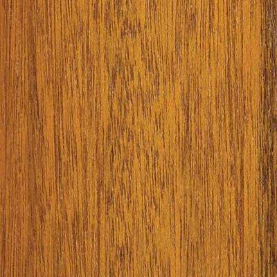 4 in. x 3 in. Wood Garage Door Sample in Meranti with Natural 078 Stain