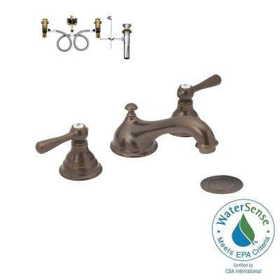 Kingsley 8 in. Widespread 2-Handle Low-Arc Bathroom Faucet Trim Kit with Valve in Oil Rubbed Bronze