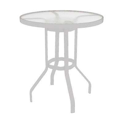 Marco Island 36 in. White Acrylic Top Commercial Bar Height Patio Dining Table