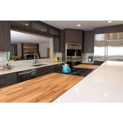Unfinished Birch 6 ft. L x 25 in. D x 1.5 in. T Butcher Block Countertop