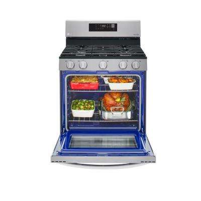 5.8 cu. ft. Smart Gas Single Oven Range with EasyClean, Wi-Fi Enabled in Stainless Steel