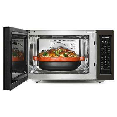 1.5 cu. ft. Countertop Microwave in Black Stainless with PrintShield