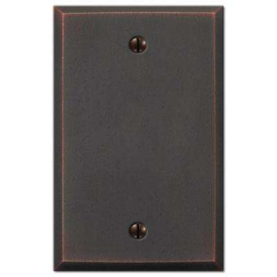Manhattan 1 Blank Wall Plate - Aged Bronze