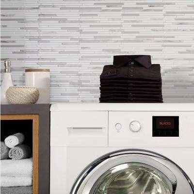 Capri Addario Grey 9.88 in. W x 9.70 in. H Peel and Stick Self-Adhesive Decorative Mosaic Wall Tile Backsplash (4-Pack)