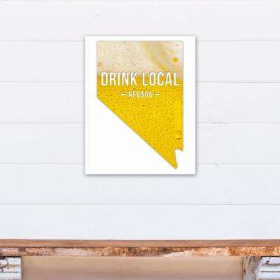 "16 in. ""x 20 in. ""Nevada Drink Local Beer Printed Canvas Wall Art"""