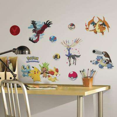 5 in. x 11.5 in. Pokemon XY Peel and Stick Wall Decal
