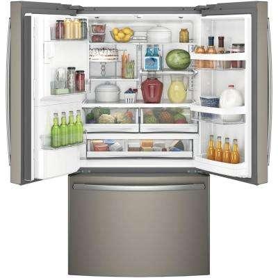 22.2 cu. ft. French Door Refrigerator in Slate, Counter Depth. and Fingerprint Resistant