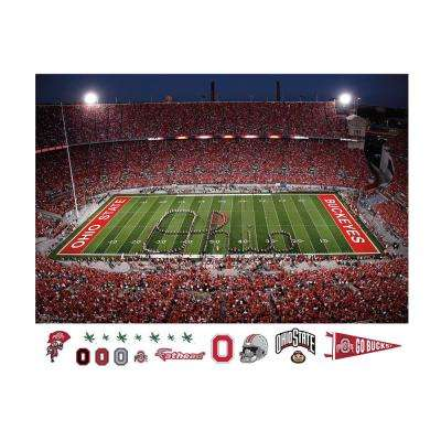 48 in. H x 72 in. W Ohio State - Marching Band Script Ohio Mural Wall Mural