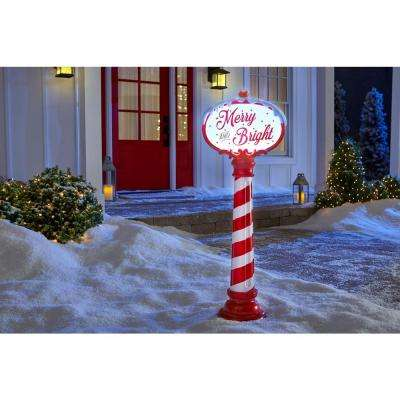 42 in. Christmas Sign with LED Illumination