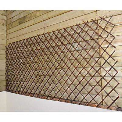 72 in. W x 60 in. H Willow Expandable Trellis Fence Set