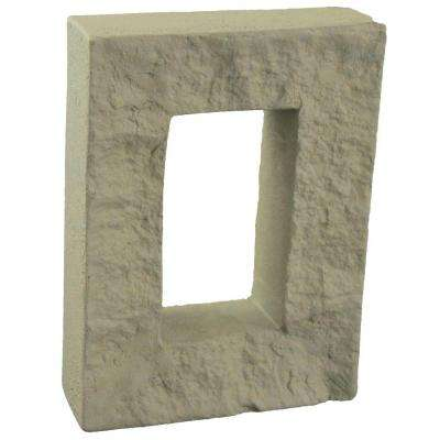 Cliff Grey 7-7/8 in. x 6 in. x 1-7/8 in. Faux Outlet Cover
