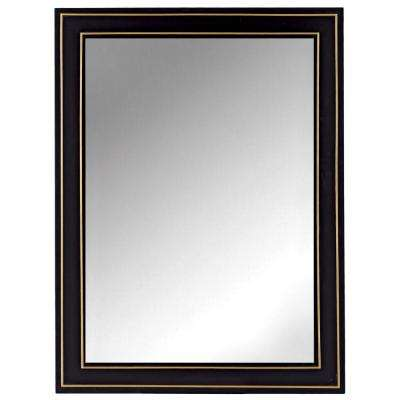 Florence 30 in. x 40 in. Framed Wall Mirror in Black