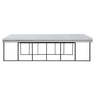 20 ft. W x 29 ft. D Eggshell Galvanized Steel Carport, Car Canopy and Shelter