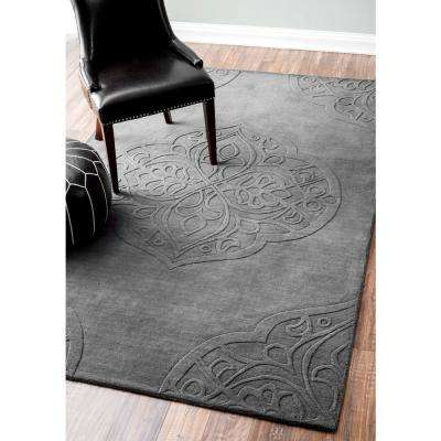 Strother Grey 10 ft. x 14 ft. Area Rug