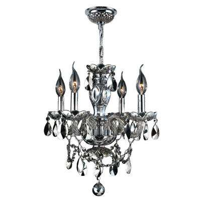 Provence Collection 4-Light Chrome with Crystal Chandelier