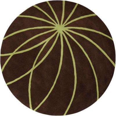 Michael Brown 9 ft. 9 in. Round Area Rug