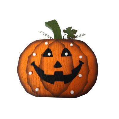14 in. Pumpkin Decor with LED Lights