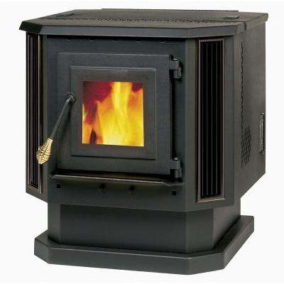 2,200 Square Feet Pellet Stove with Black Louvers